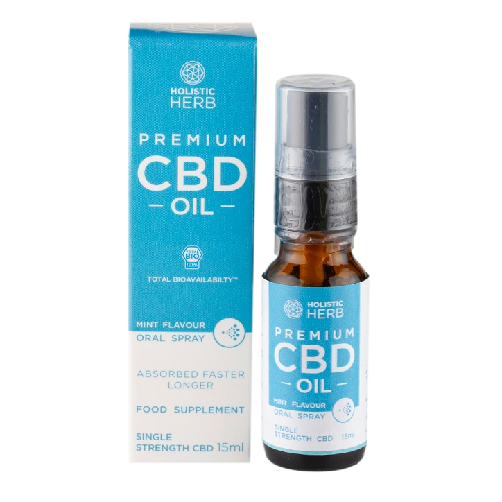 Holistic Herb Premium CBD Oral Spray Single Strength 15ml Mint Flavour