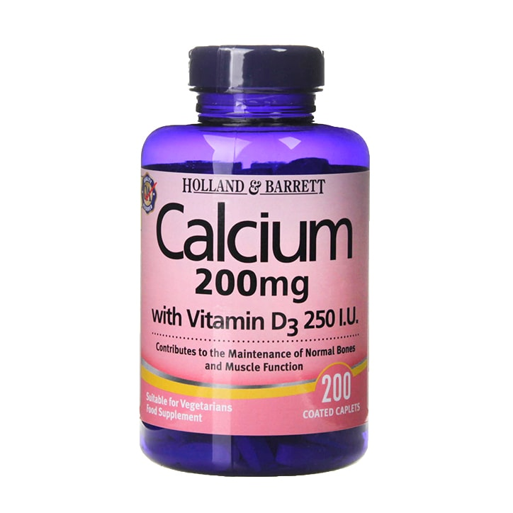 Holland & Barrett Calcium with Vitamin D3 200mg 200 Tablets