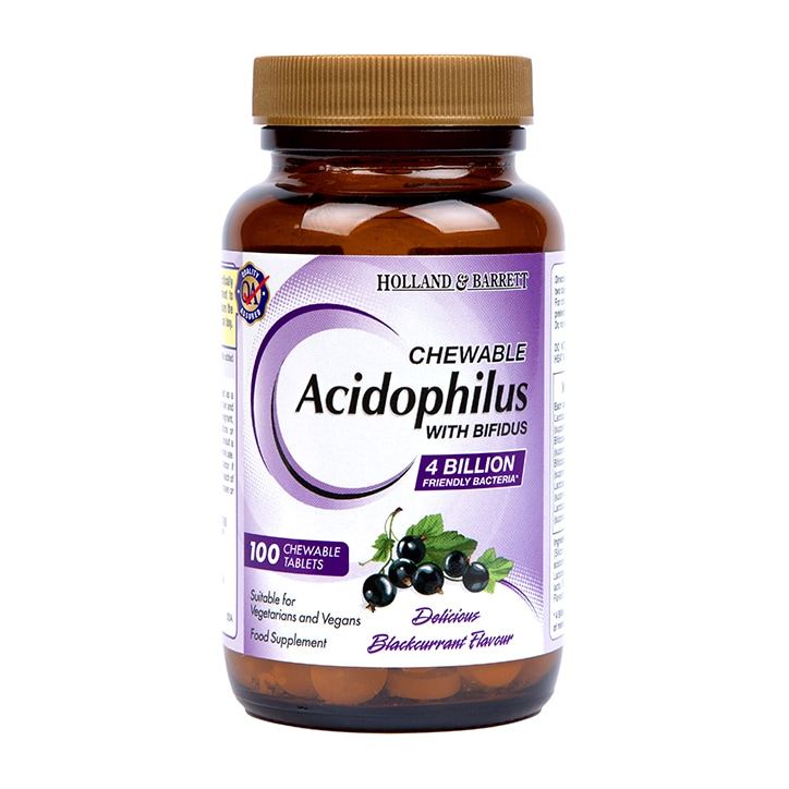 Holland & Barrett Chewable Acidophilus with Bifidus 100 Tablets
