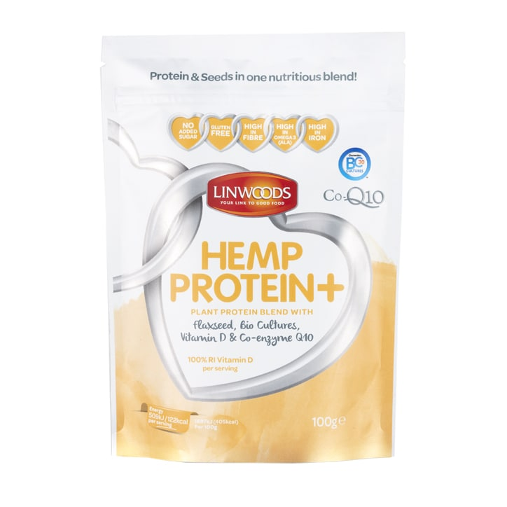 Linwoods Hemp Protein + Flax, Bio-culture, Vitamin D, Co-Q10 100g