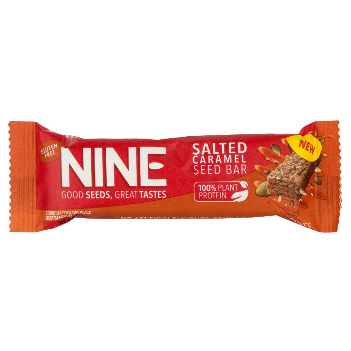 NINE Salted Caramel Seed Bar