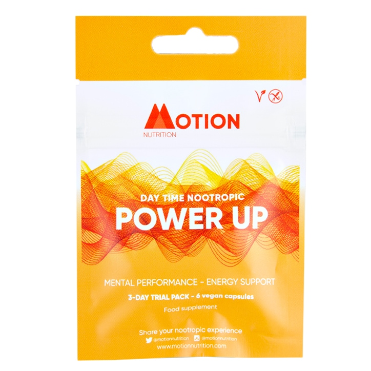 Motion Nutrition Day Time Power Up 6 Capsules 3 Day Trial Pack