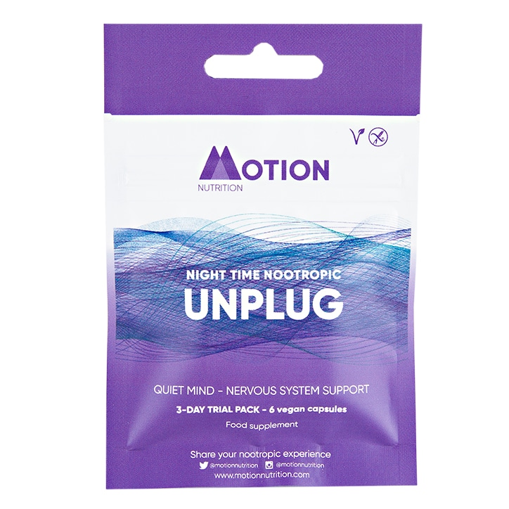 Motion Nutrition Night Time Unplug 6 Capsules 3 Day Trial Pack