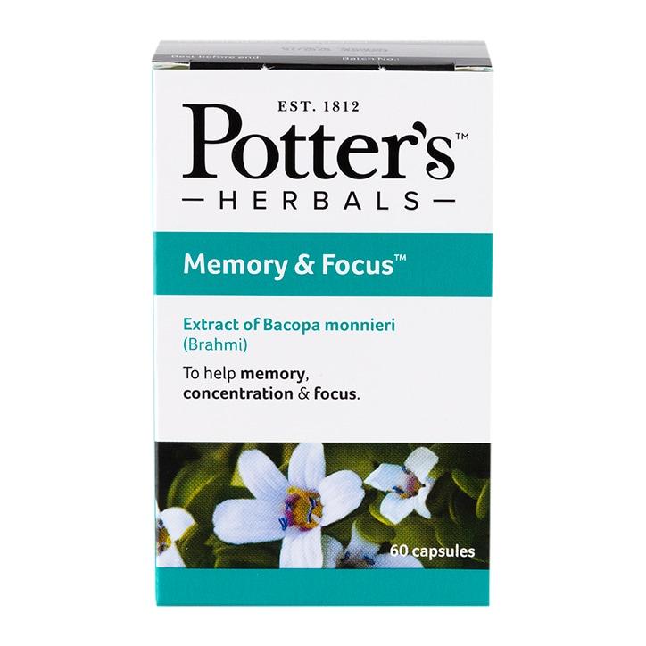 Potters Memory & Focus 60 Capsules