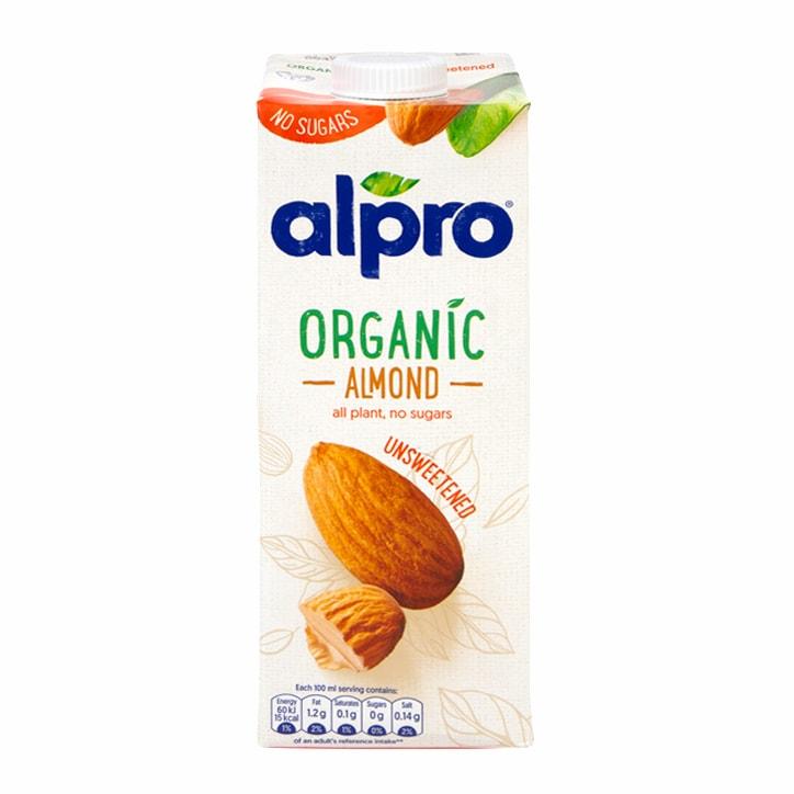 Alpro Organic Unsweetened Almond 1l