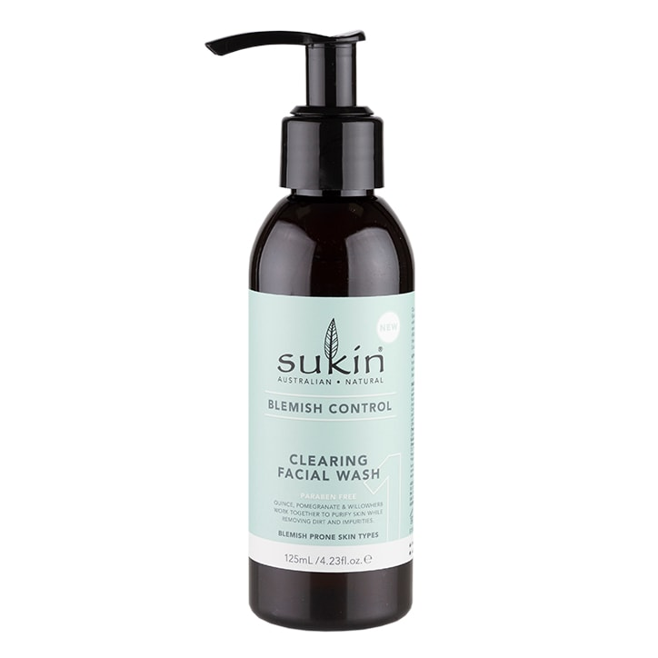 Sukin Blemish Control Clearing Face Wash 125ml