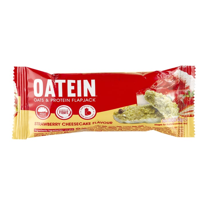 Oatein Flapjack Strawberry Cheesecake 40g