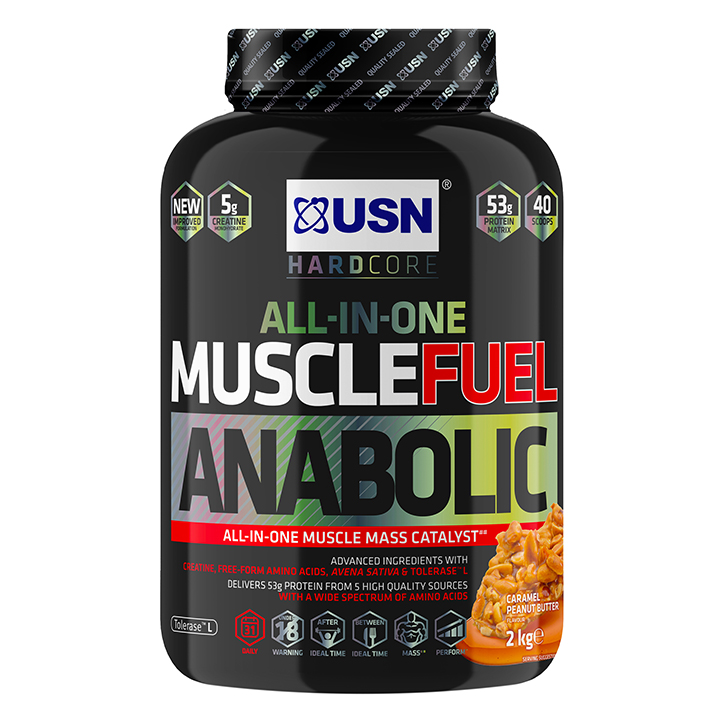 USN Muscle Fuel Anabolic All-In-OneShake Caramel Peanut 2kg