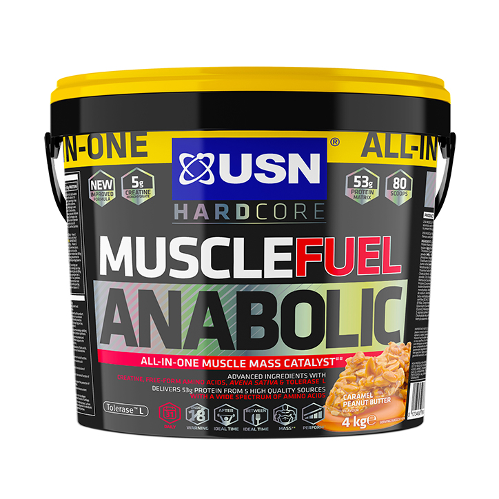 USN Muscle Fuel Anabolic All-In-OneShake Caramel Peanut 4kg