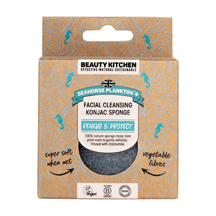 Beauty Kitchen The Sustainables Seahorse Plankton + Cleansing Konjac Sponge