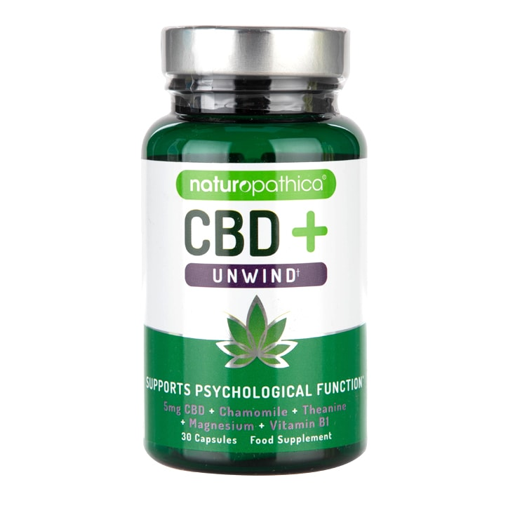 Naturopathica CBD+ Unwind Capsules