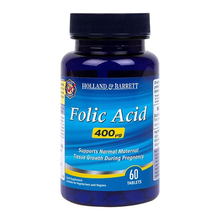 Holland & Barrett Folic Acid 60 Tablets 400ug