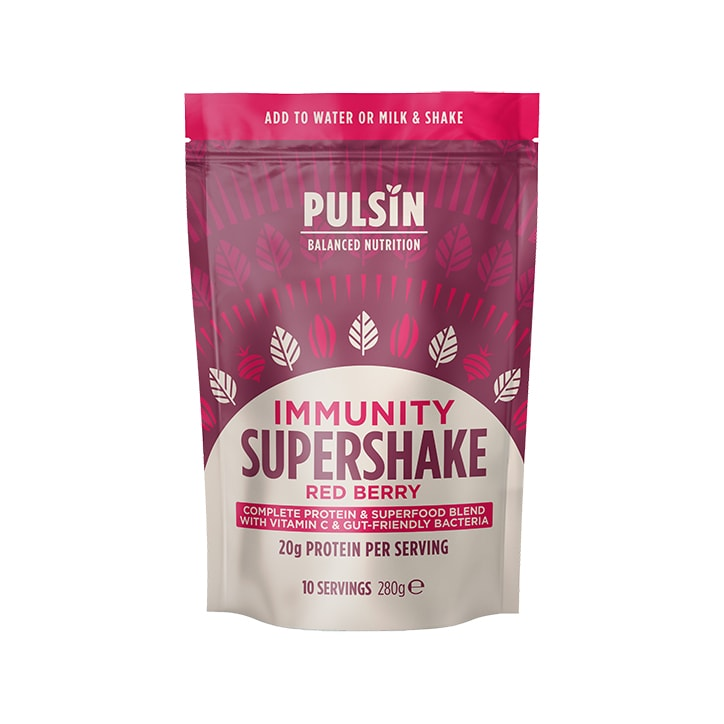 Pulsin Supershake Immunity Red Berry 280g
