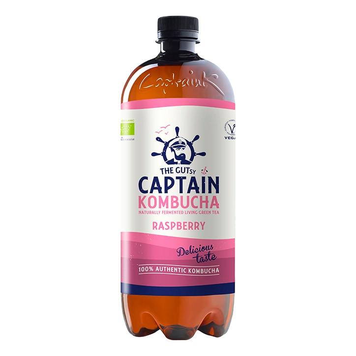 The GUTsy Captain Kombucha Raspberry Bio-Organic Drink 1L