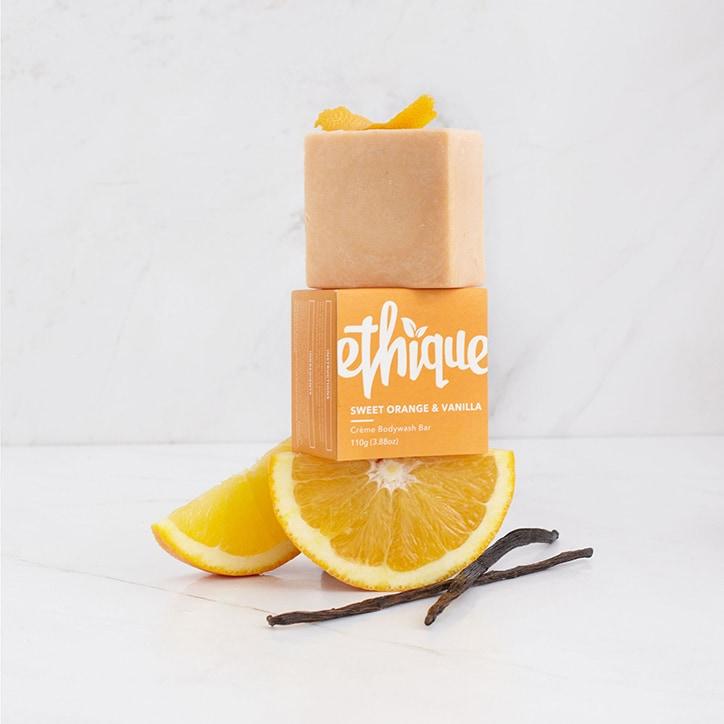 Ethique Sweet Orange & Vanilla Crème Bodywash Bar 110g