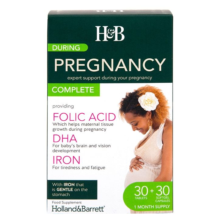 Holland & Barrett During Pregnancy Complete Dual Pack 30 Tablets & 30 Capsules