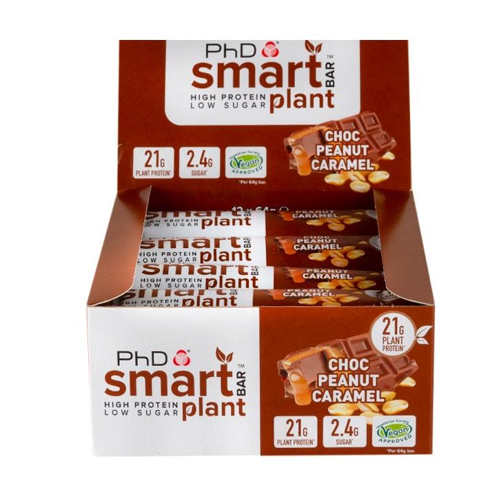 PhD Smart Bar Plant Chocolate Peanut Caramel 12 x 60g