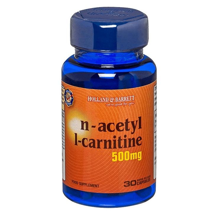Holland & Barrett NAcetyl Lcarnitine 30 Capsules 500mg