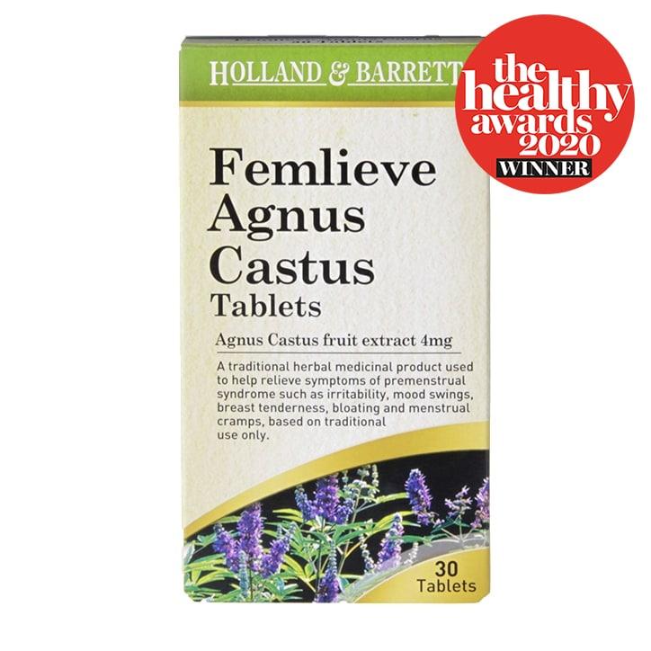 Holland & Barrett Femlieve Agnus Castus 4mg 30 Tablets