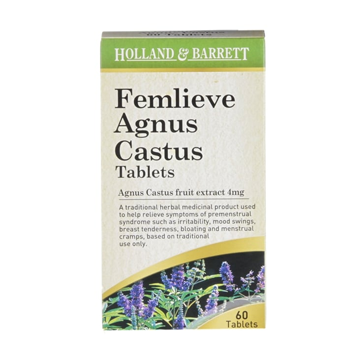 Holland & Barrett Femlieve Agnus Castus 4mg 60 Tablets