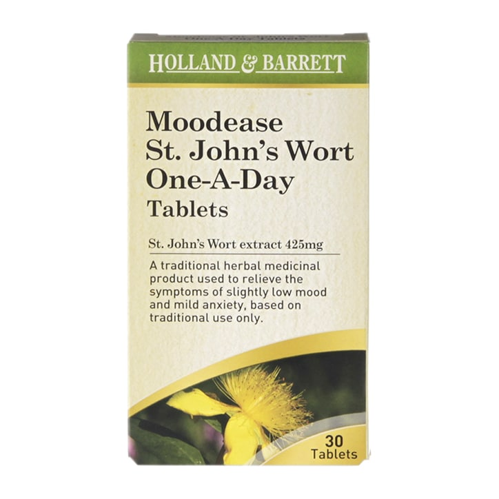 Holland & Barrett Moodease St. John's Wort One-A-Day 425mg Tablets