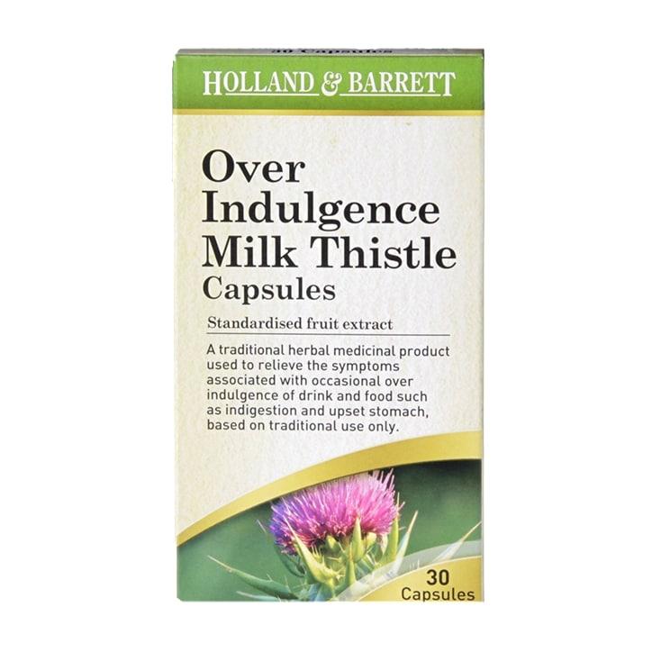 Holland & Barrett Over Indulgence Milk Thistle 30 Capsules