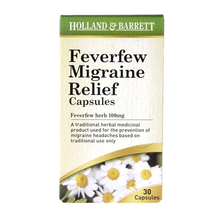 Holland & Barrett Feverfew Migraine Relief 30 Capsules 100mg