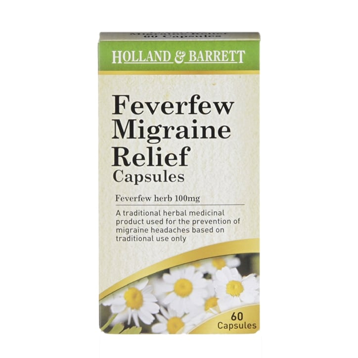 Holland & Barrett Feverfew Migraine Relief 60 Capsules 100mg