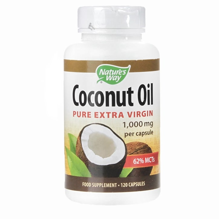 Nature's Way Pure Extra Virgin Coconut Oil 1000mg Capsules