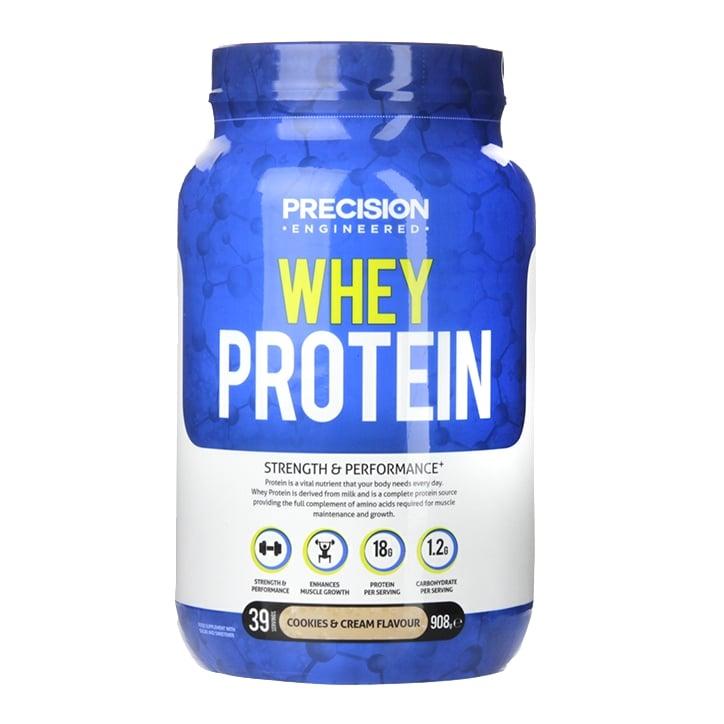 Precision Engineered Whey Protein Powder Cookies & Cream 908g