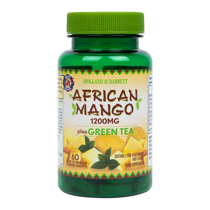 Holland & Barrett African Mango with Green Tea 60 Caplets 1200mg