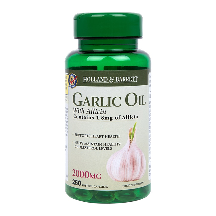Holland & Barrett Garlic Oil Capsules With Allicin 2000mg