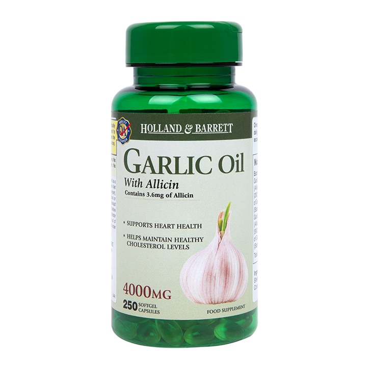 Holland & Barrett Garlic Oil With Allicin 4000mg 250 Capsules