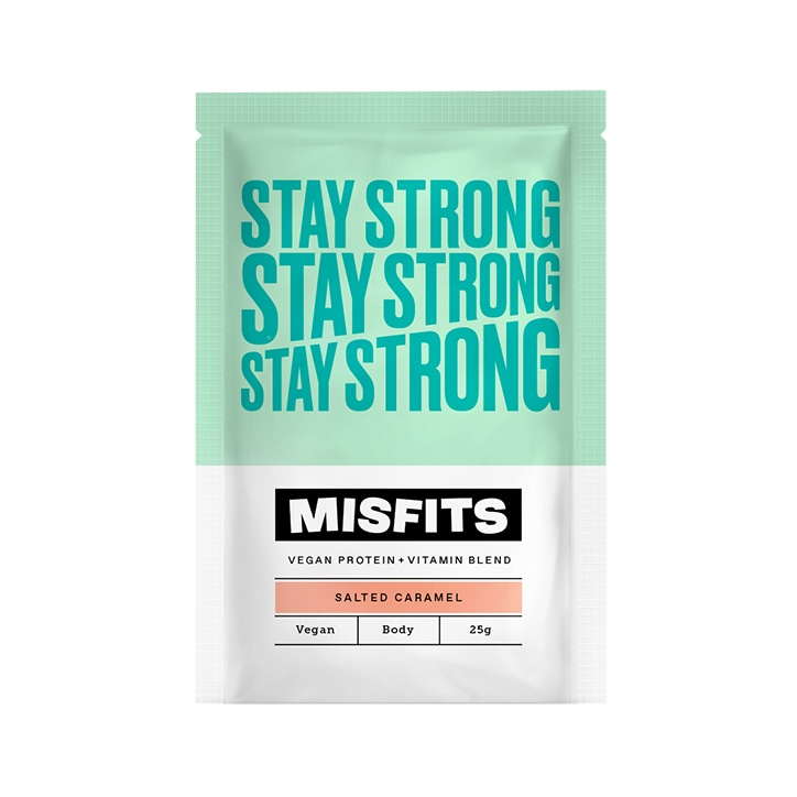 Misfits Salted Caramel Stay Strong Vegan Protein Powder 25g