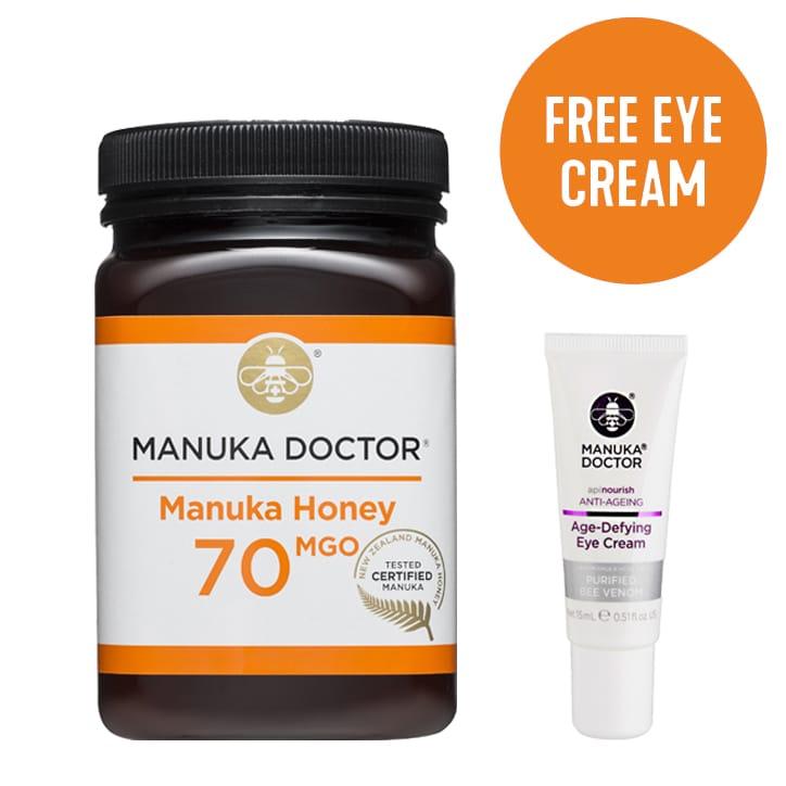 Manuka Doctor Manuka Honey MGO 70 500g & Free Eye Cream