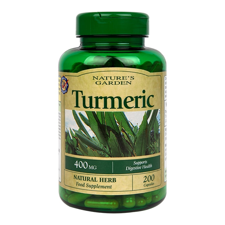 Nature's Garden Turmeric 400mg containing Curcumin Capsules