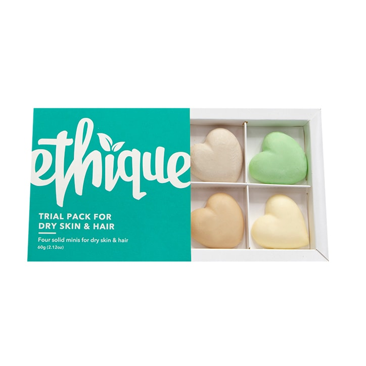 Ethique Hair, Face & Body Trial Pack - Dry Skin & Hair Types