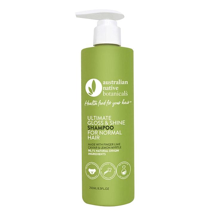 Australian Native Botanicals Ultimate Gloss & Shine Shampoo - Normal Hair 250ml