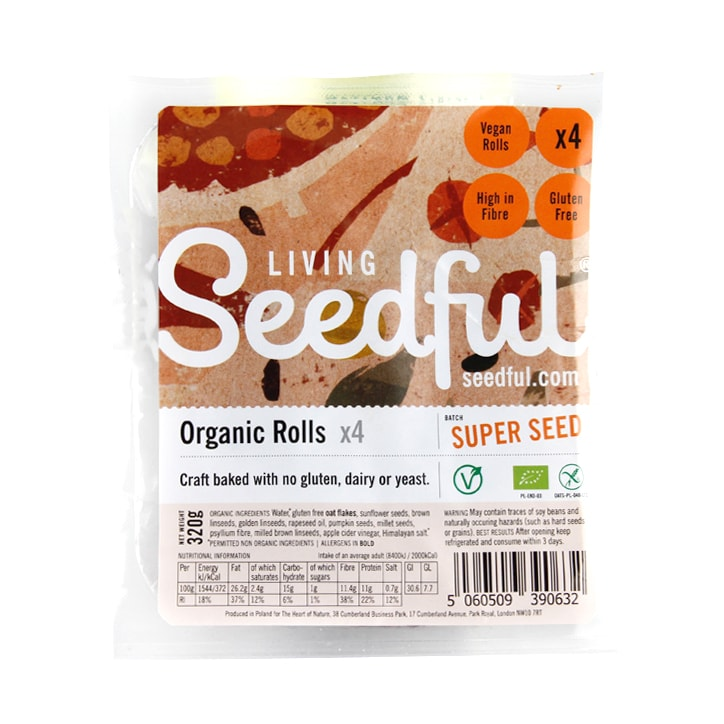 Seedful Organic Gluten Free Rolls 320g