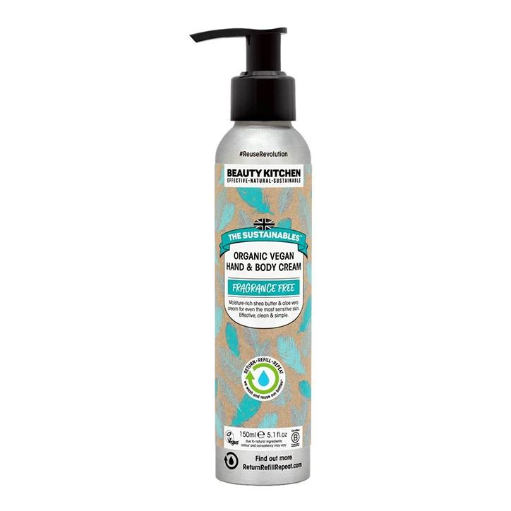 Beauty Kitchen The Sustainables Fragrance Free Organic Vegan Hand & Body Cream 150ml