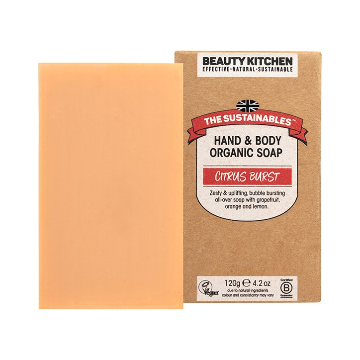 Beauty Kitchen Citrus Burst Organic Bar Soap 120g