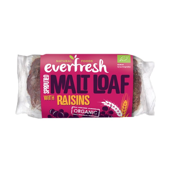 Everfresh Sprouted Malt Loaf with Raisins 330g