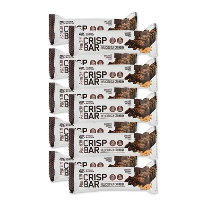 Optimum Nutrition Crisp Bar Choc Brownie Full Box 10 x 65g