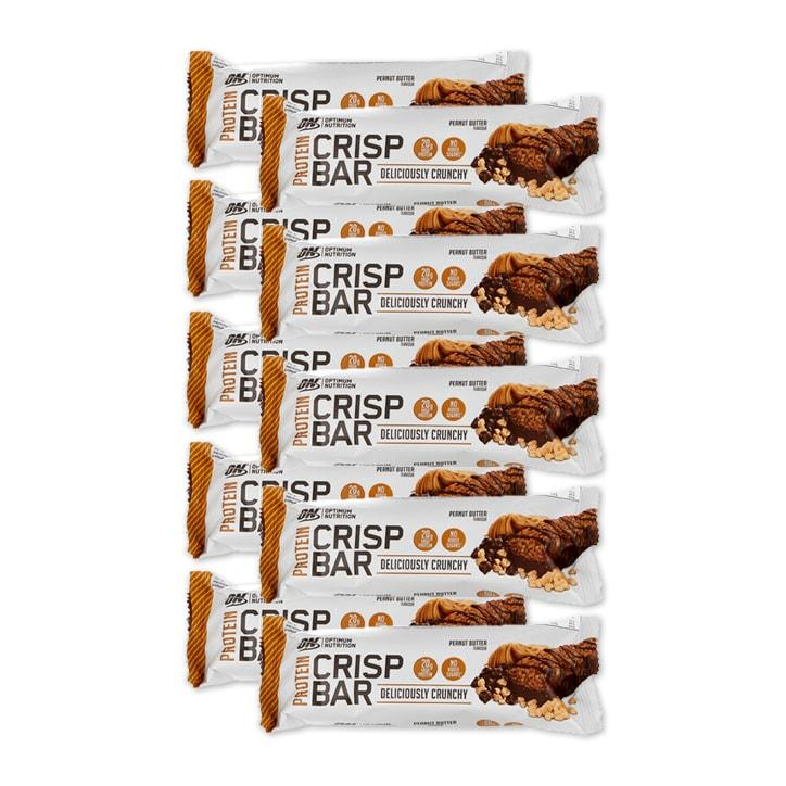 Optimum Nutrition Crisp Protein Bar Choc Peanut Butter Full Box 10 x 65g