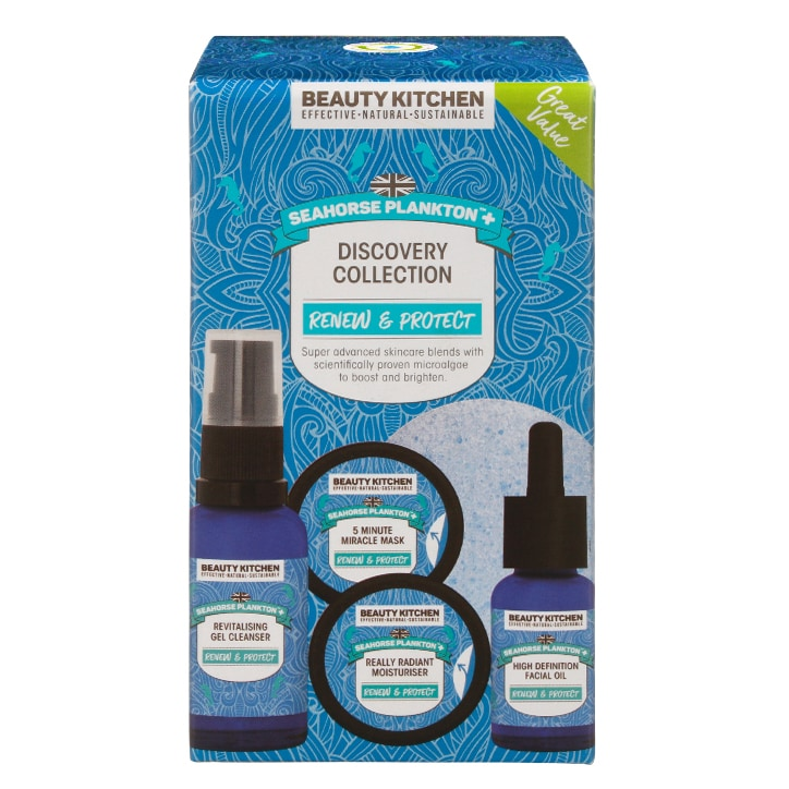 Beauty Kitchen Seahorse Plankton+ Discovery Collection Starter Kit 5 items