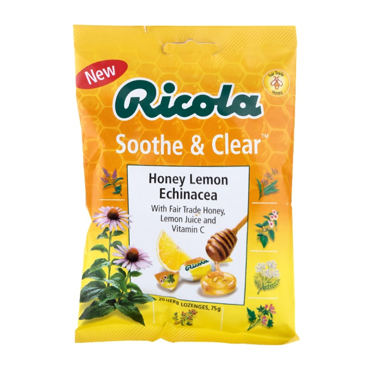 Ricola Soothe & Clear Honey, Lemon & Echinacea Lozenges