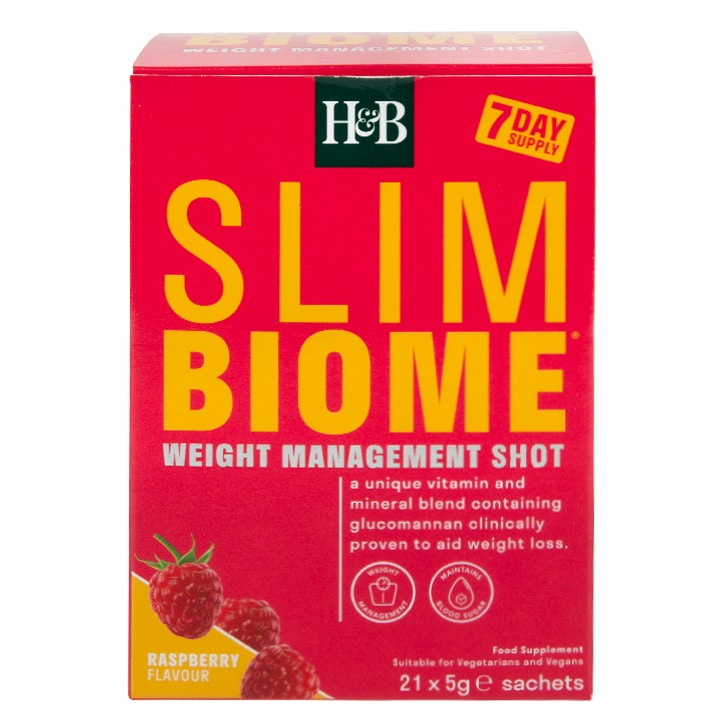 Holland & Barrett Slimbiome Raspberry Flavour 21 Sachets