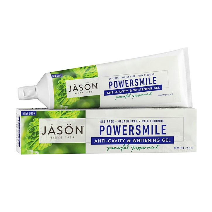 Jason Powersmile Anti-cavity & Whitening Gel - Peppermint 170g
