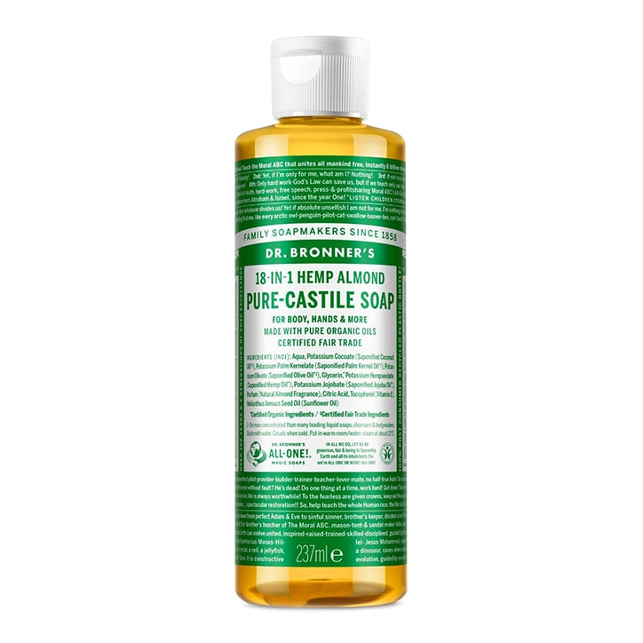 Dr Bronner's Almond Pure-Castile Liquid Soap 237ml