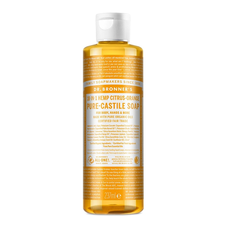 Dr Bronner's Citrus Orange Pure-Castile Liquid Soap